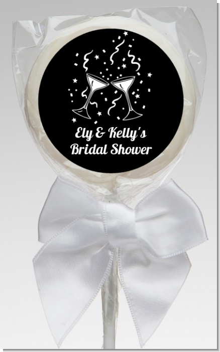 Cheers - Personalized Bridal Shower Lollipop Favors