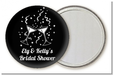 Cheers - Personalized Bridal Shower Pocket Mirror Favors