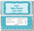 Cheetah Print Blue - Personalized Birthday Party Candy Bar Wrappers thumbnail