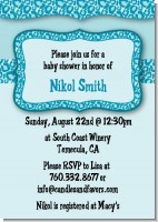 Cheetah Print Blue - Birthday Party Invitations