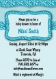 Cheetah Print Blue - Birthday Party Invitations thumbnail