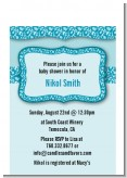 Cheetah Print Blue - Birthday Party Petite Invitations