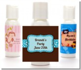Cheetah Print Blue - Personalized Birthday Party Lotion Favors
