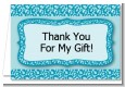 Cheetah Print Blue - Birthday Party Thank You Cards thumbnail