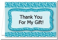Cheetah Print Blue - Birthday Party Thank You Cards