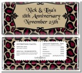 Cheetah Print - Personalized Anniversary Candy Bar Wrappers