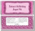 Cheetah Print Pink - Personalized Birthday Party Candy Bar Wrappers thumbnail