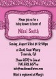 Cheetah Print Pink - Birthday Party Invitations thumbnail