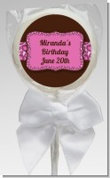 Cheetah Print Pink - Personalized Birthday Party Lollipop Favors