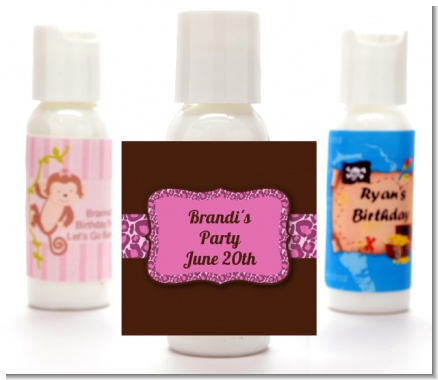 Cheetah Print Pink - Personalized Birthday Party Lotion Favors