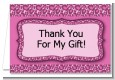 Cheetah Print Pink - Birthday Party Thank You Cards thumbnail