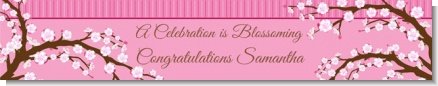 Cherry Blossom - Personalized Baby Shower Banners
