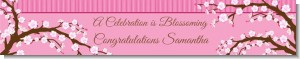 Cherry Blossom - Personalized Bridal Shower Banners