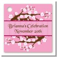 Cherry Blossom - Personalized Bridal Shower Card Stock Favor Tags thumbnail