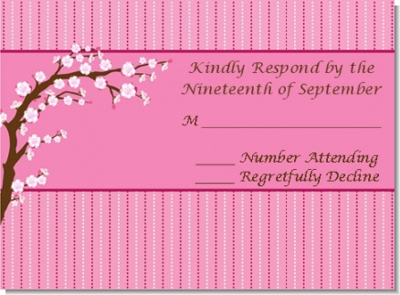 Cherry Blossom - Bridal Shower Response Cards
