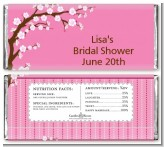 Cherry Blossom - Personalized Baby Shower Candy Bar Wrappers