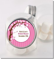 Cherry Blossom - Personalized Baby Shower Candy Jar