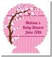 Cherry Blossom - Personalized Baby Shower Centerpiece Stand thumbnail