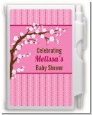 Cherry Blossom - Baby Shower Personalized Notebook Favor