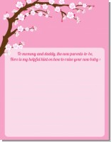 Cherry Blossom - Baby Shower Notes of Advice