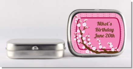 Cherry Blossom - Personalized Birthday Party Mint Tins