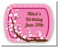 Cherry Blossom - Personalized Birthday Party Rounded Corner Stickers thumbnail