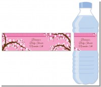 Cherry Blossom - Personalized Baby Shower Water Bottle Labels