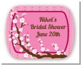 Cherry Blossom - Personalized Bridal Shower Rounded Corner Stickers