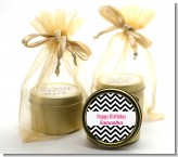Chevron Black & White - Birthday Party Gold Tin Candle Favors