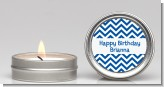 Chevron Blue - Birthday Party Candle Favors