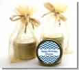 Chevron Blue - Birthday Party Gold Tin Candle Favors thumbnail