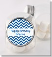 Chevron Blue - Personalized Birthday Party Candy Jar thumbnail