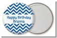 Chevron Blue - Personalized Birthday Party Pocket Mirror Favors thumbnail
