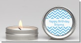 Chevron Light Blue - Birthday Party Candle Favors
