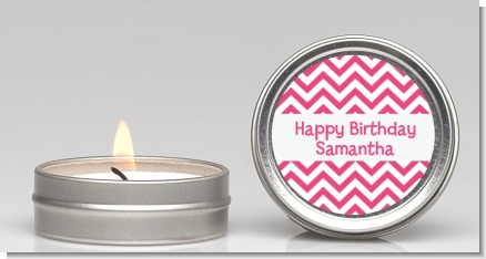 Chevron Pink - Birthday Party Candle Favors