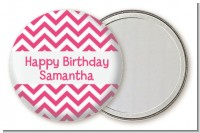 Chevron Pink - Personalized Birthday Party Pocket Mirror Favors