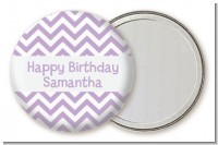 Chevron Purple - Personalized Birthday Party Pocket Mirror Favors
