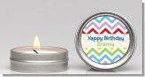 Chevron Rainbow - Birthday Party Candle Favors