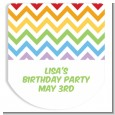 Chevron Rainbow - Personalized Hand Sanitizer Sticker Labels thumbnail