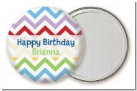 Chevron Rainbow - Personalized Birthday Party Pocket Mirror Favors