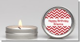 Chevron Red - Birthday Party Candle Favors
