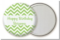 Chevron Sage Green - Personalized Birthday Party Pocket Mirror Favors