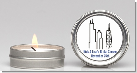 Chicago - Bridal Shower Candle Favors