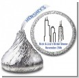 Chicago - Hershey Kiss Bridal Shower Sticker Labels thumbnail
