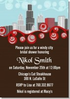 Chicago Skyline - Bridal Shower Invitations