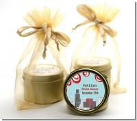 Chicago Skyline - Bridal Shower Gold Tin Candle Favors