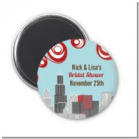Chicago Skyline - Personalized Bridal Shower Magnet Favors