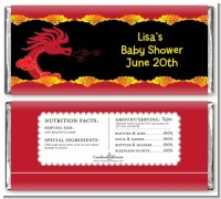 Chinese New Year Dragon - Personalized Baby Shower Candy Bar Wrappers