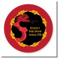 Chinese New Year Dragon - Round Personalized Baby Shower Sticker Labels thumbnail