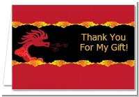 Chinese New Year Dragon - Baby Shower Thank You Cards